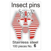 Insect Pins Steel No 6
