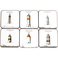 Coasters Lighthouses East Coast 6 pcs